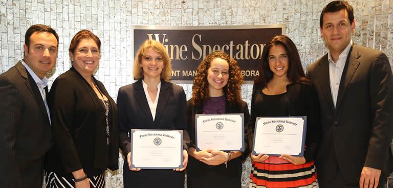 2014 Lowes Hotel Scholars in the Wine Spectator Restaurant Management Lab
