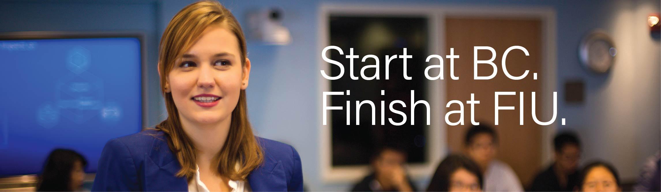 Start at Broward College, Finish at FIU