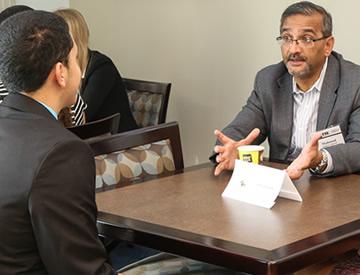 Executive mentoring FIU hospitality management student